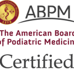 Certified, American Board of Podiatric Medicine