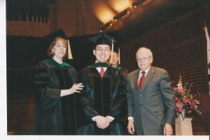 Graduation with Drs. Bradley and Choate