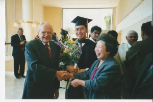 Mom at medical school graduation