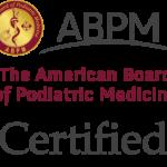 Certified, American Board of Podiatric Medicine