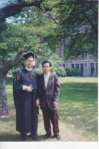 Dr. Hoy's father at university graduation