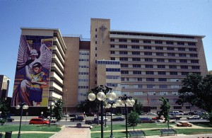 One of the San Antonio hospitals in which Dr. Hoy worked